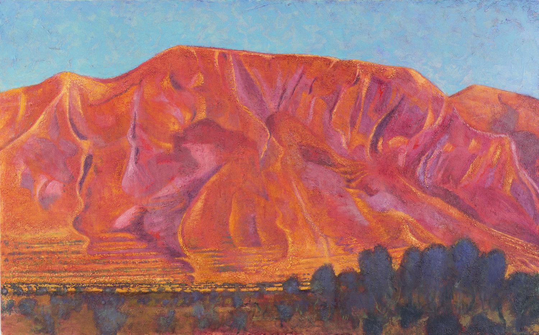 Mount Elijah above Anno Boularii, Sundown oil on canvas 76 x 122 cm