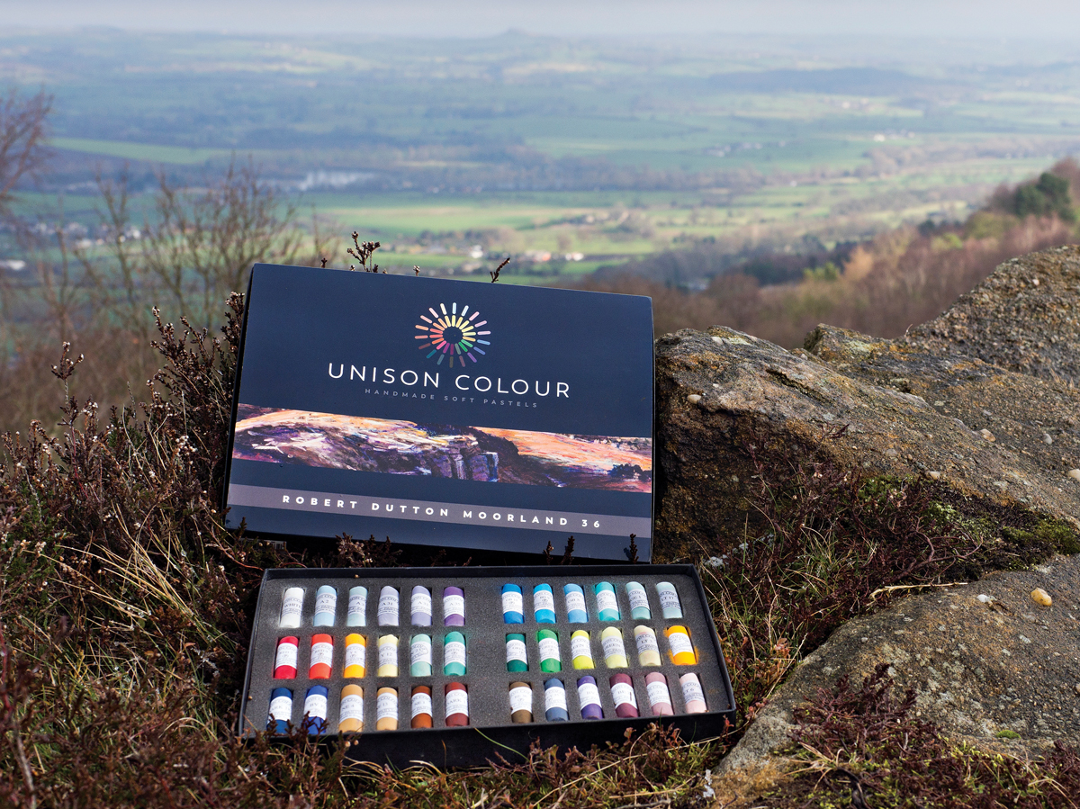 Moorland Pastels The landscape of and moors of Yorkshire inspiring the new 'Moorland Colour' box set of gorgeous 36 pastel colours created with Unison Colour Associate artist Robert Dutton
