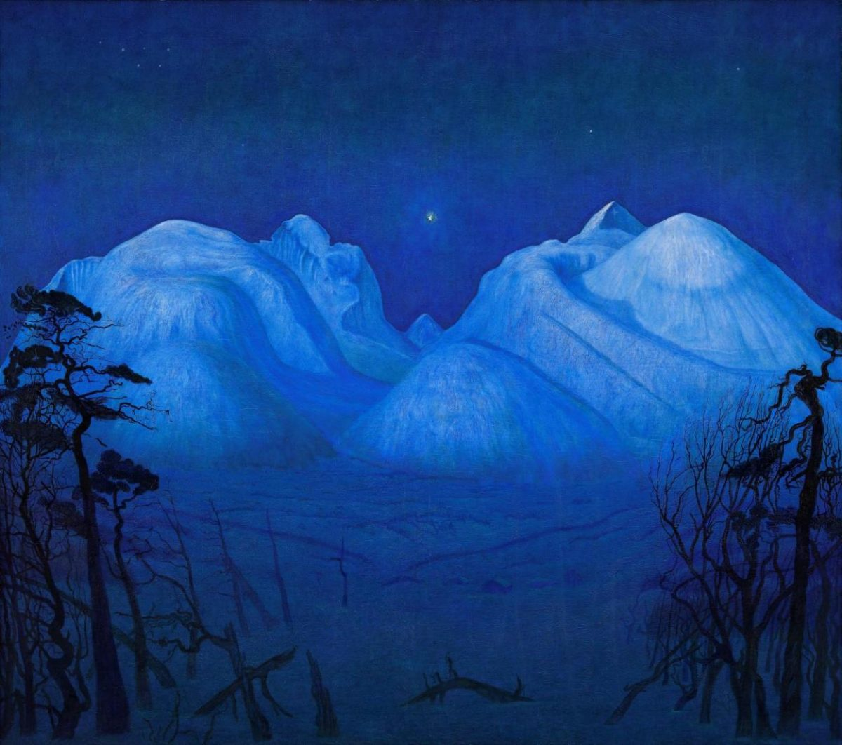 Harald Sohlberg, Winter Night in the Mountains, 1914