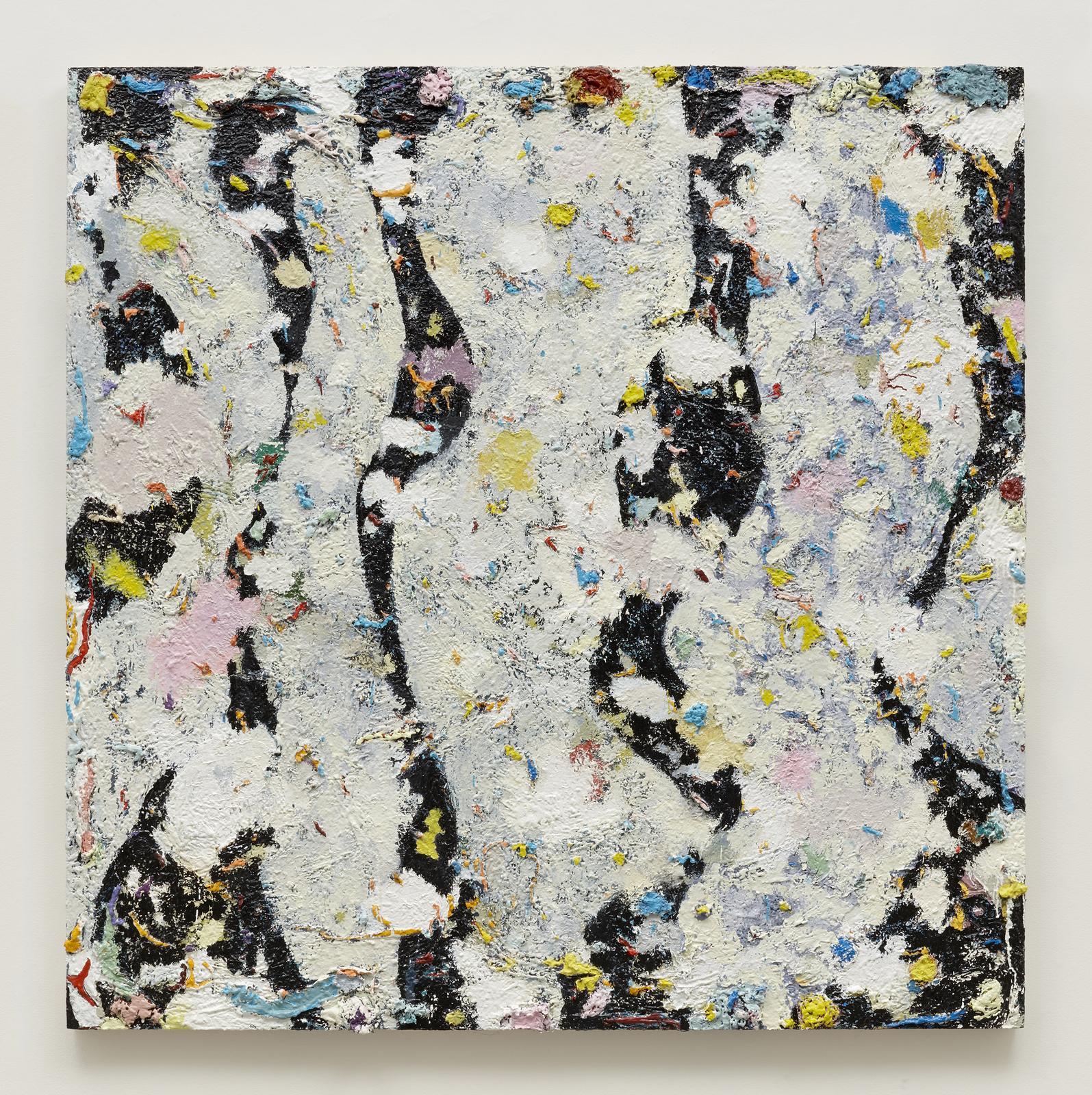 Phillip Allen Deepdrippings (International Version) 2017 oil on board 183 x 183 cm : 72 x 72 in