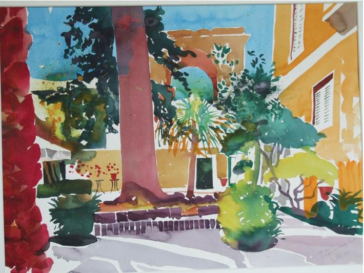 Simon Fletcher, St Giorgio Corfu example for painting holiday Morocco