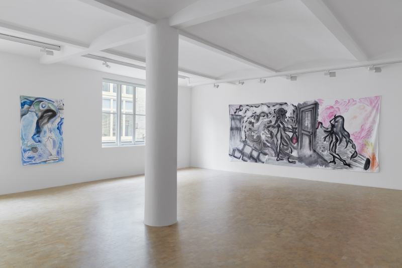 Sofia Stevi, we don't have to learn something new, solo exhibition, installation view, Pippy Houldsworth Gallery (2019)