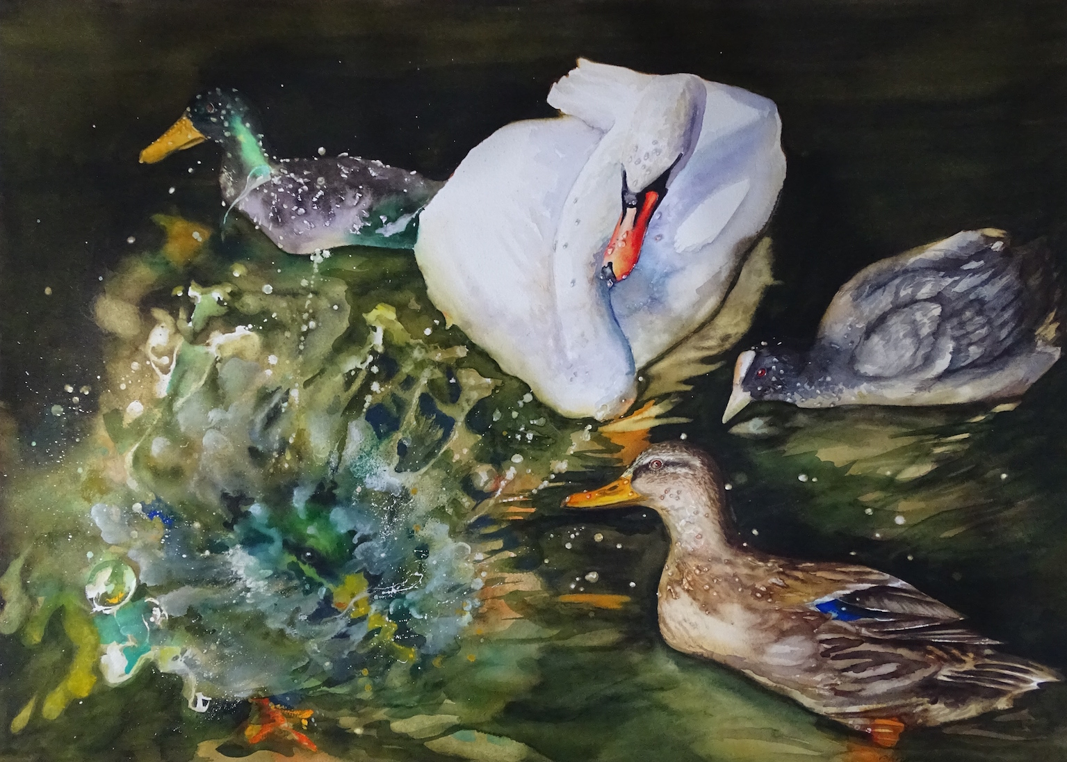 """Christina Hopkinson, There Is Always One, watercolour, (21""""x29"""")"""