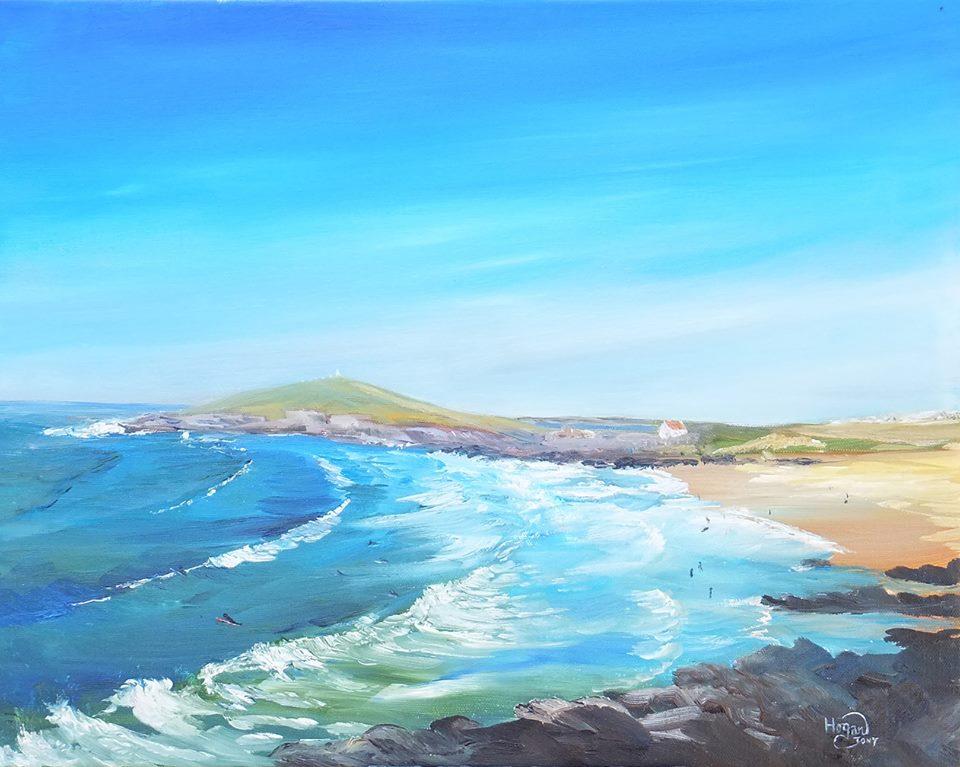 Tony Hogan, seascape painting