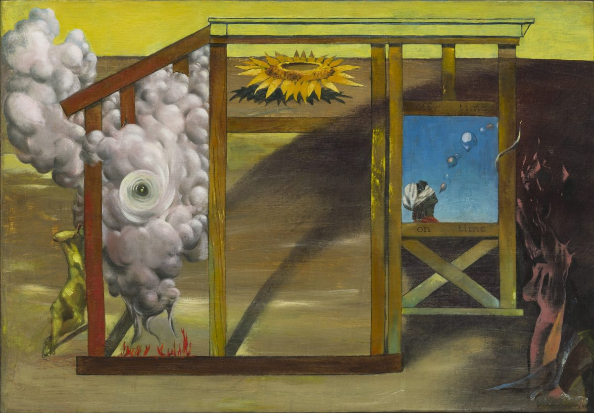 Dorothea Tanning, On Time Off Time, 1948, Oil on canvas, 35.9 cm x 52.1 cm