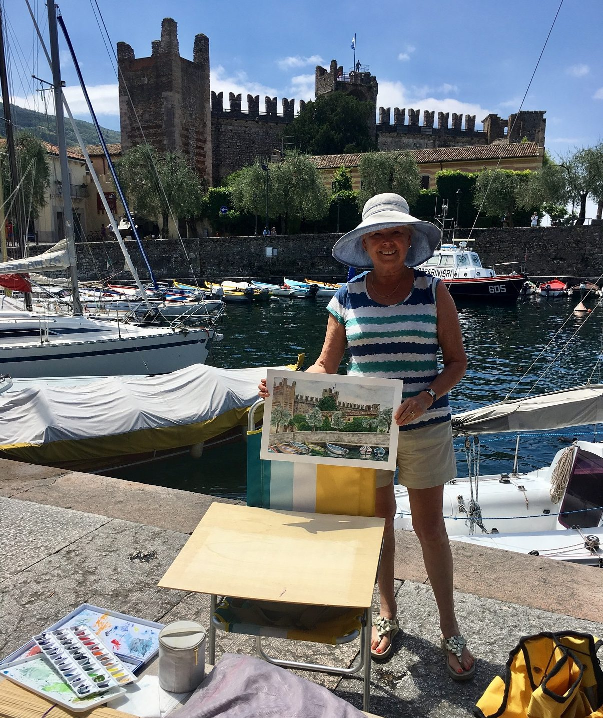 guest painting plein air at Lake Garda