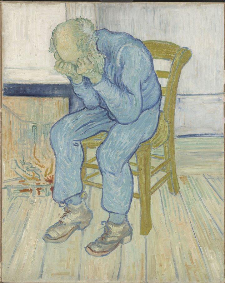Vincent van Gogh, At Eternity's Gate, 1890, Kroller-Muller Museum, Otterlo, The Netherlands