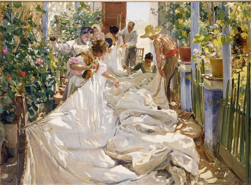 Joaquín Sorolla, 'Sewing the Sail (Cosiendo la vela)', 1896, Galleria Internazionale d'Arte Moderna di Ca' Pesaro, Venice