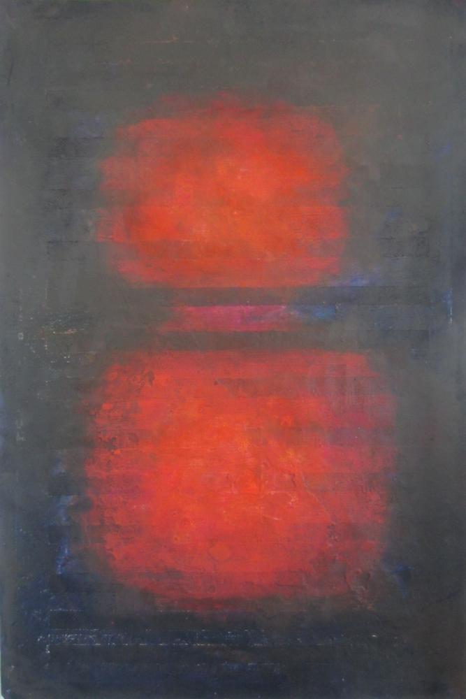 Jill-Tattersall-Red-Window,-74x50-cm,collage,-handmade-paper