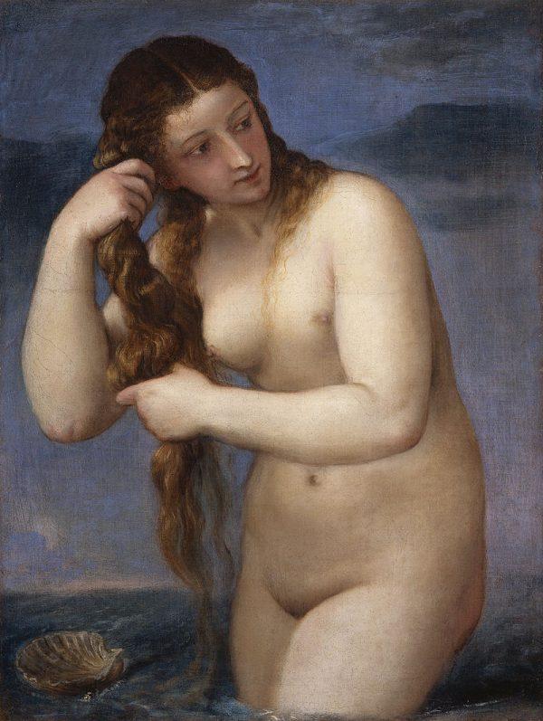 Titian, Venus Anadyomene, 1520, Oil on canvas, 75.8 cm x 57.6 cm