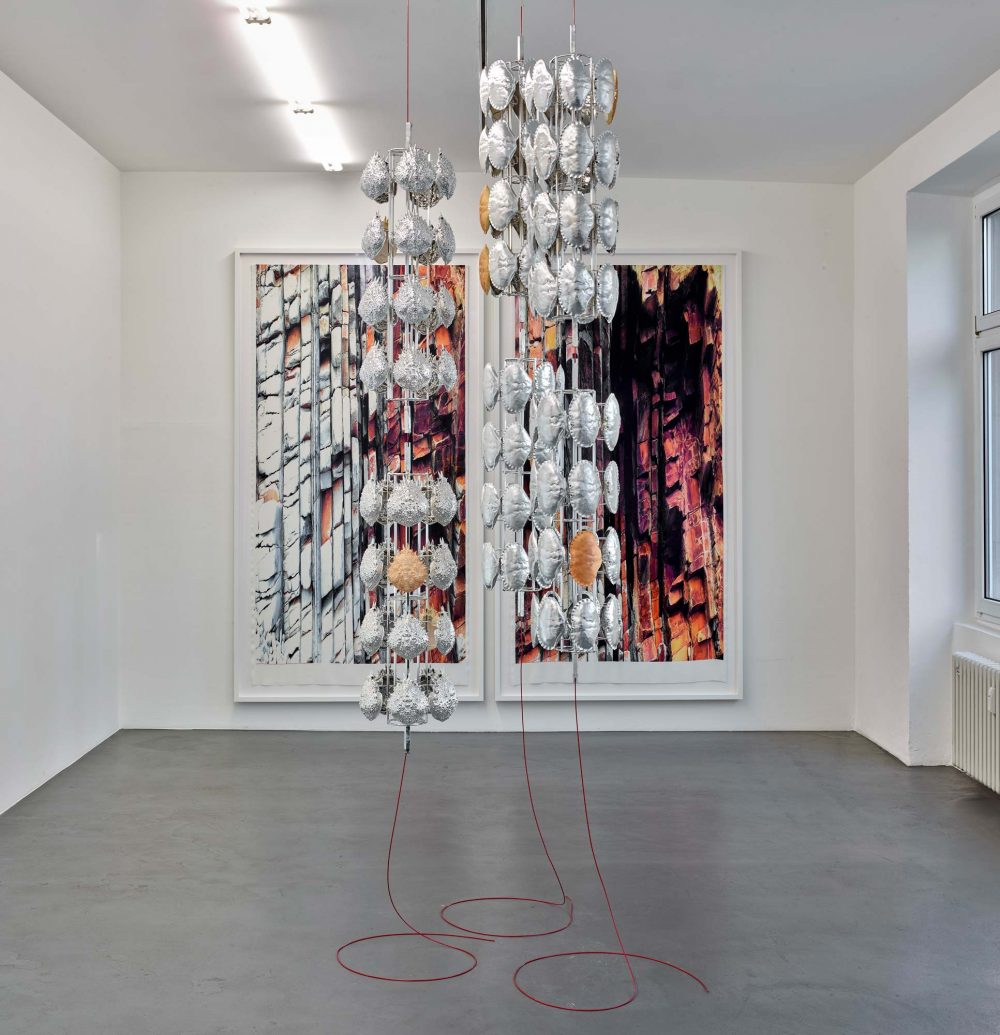 Alice Channer, Installation view - Man-made, 2019.