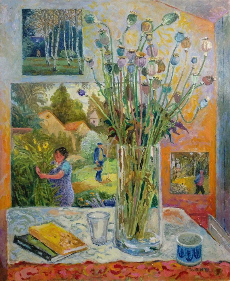 June Berry, Autumn Studio, 69 cm x 58 cm