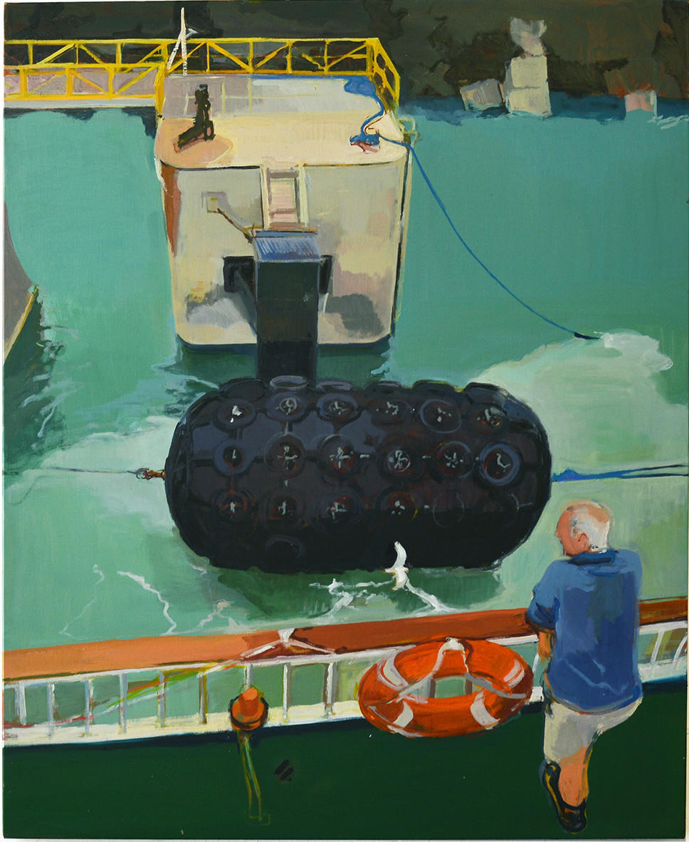 Tom Farthing, Departure, Oil on canvas 110 cm x 90 cm