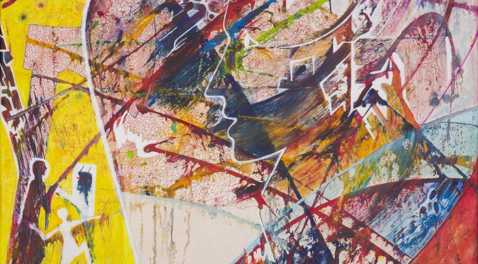 Detlef Aderhold 'Facing 3' mixed media on canvas_90 x 90cm (1)