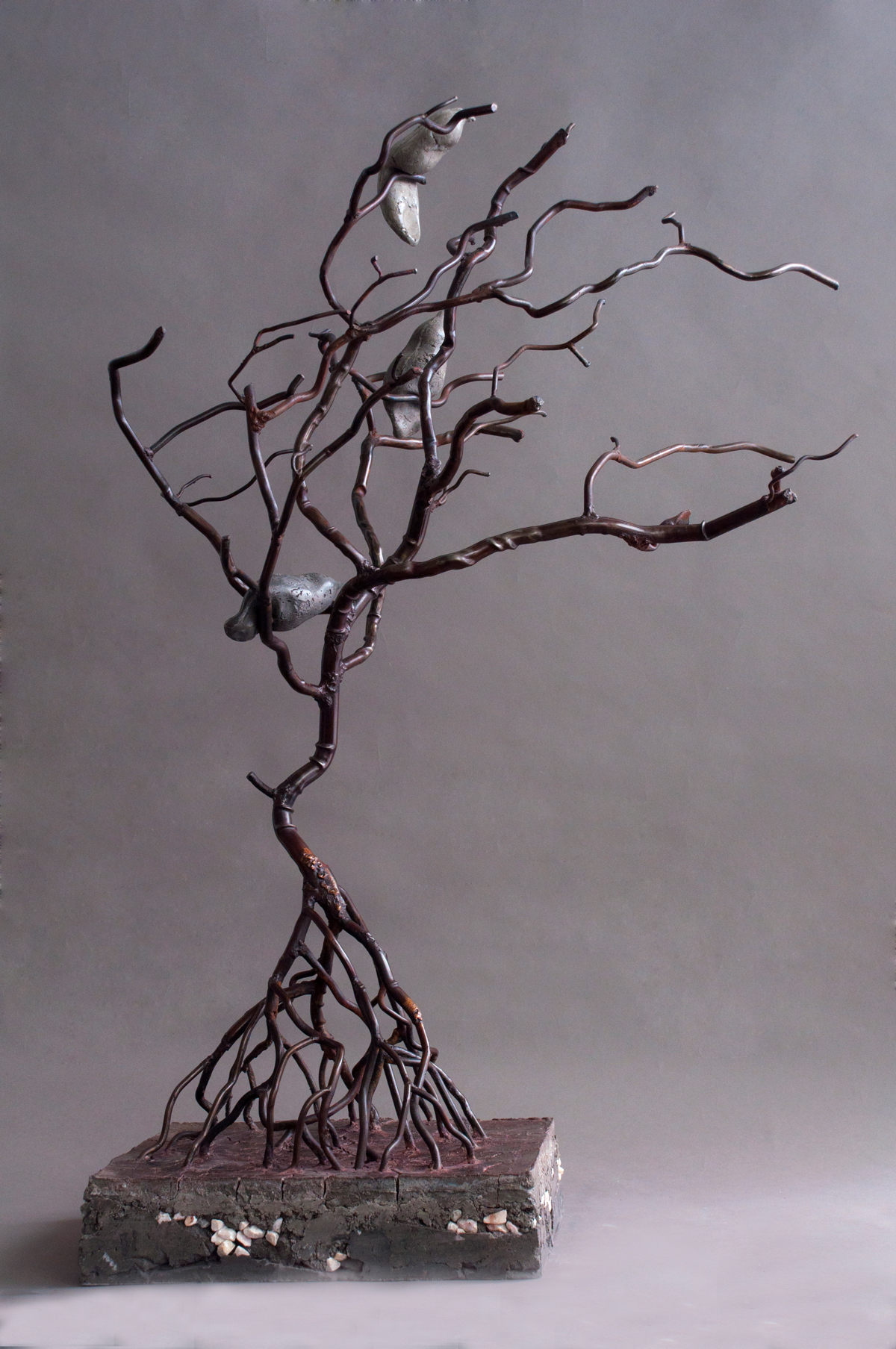 Franck Turzo, Le Palutivier, 115 x 40 x 35 cm, Concrete and Steel