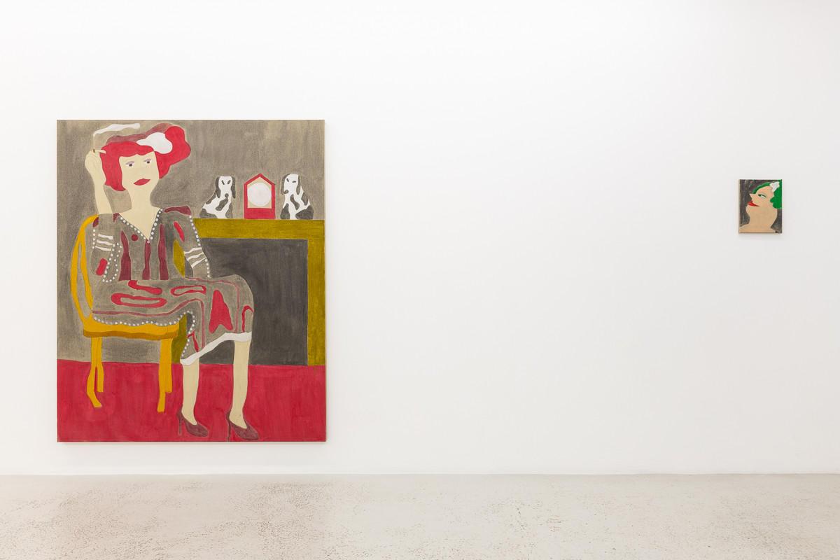 Installation view of Dominic Dispirito 'Pie 'n' Mash' at Annka Kultys Gallery, London, 2019. Photo: Annka Kultys Gallery (Damian Griffiths)