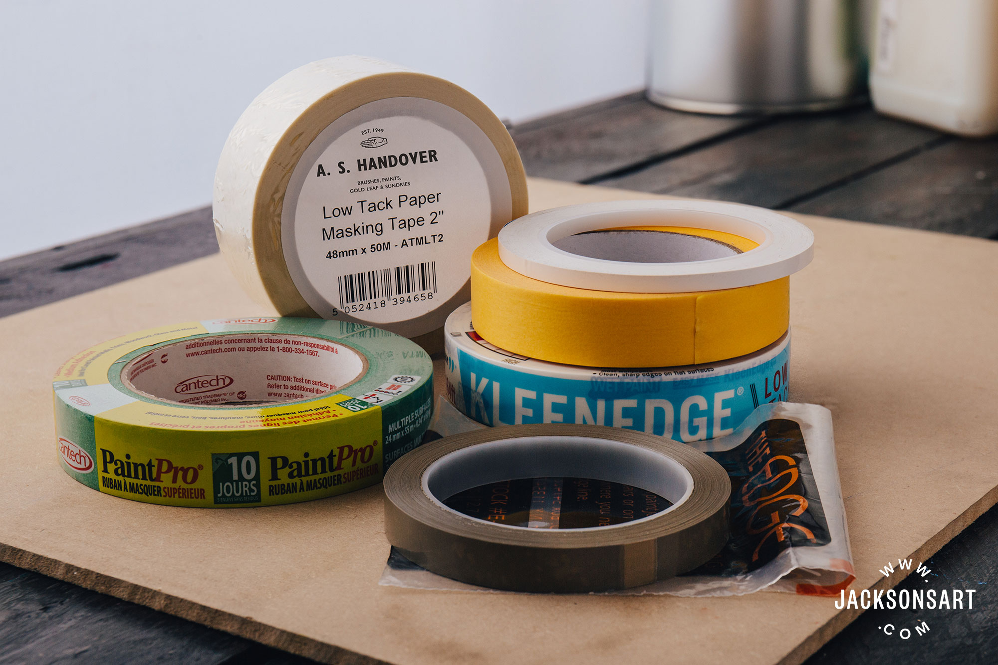 hard edge painting with masking tape