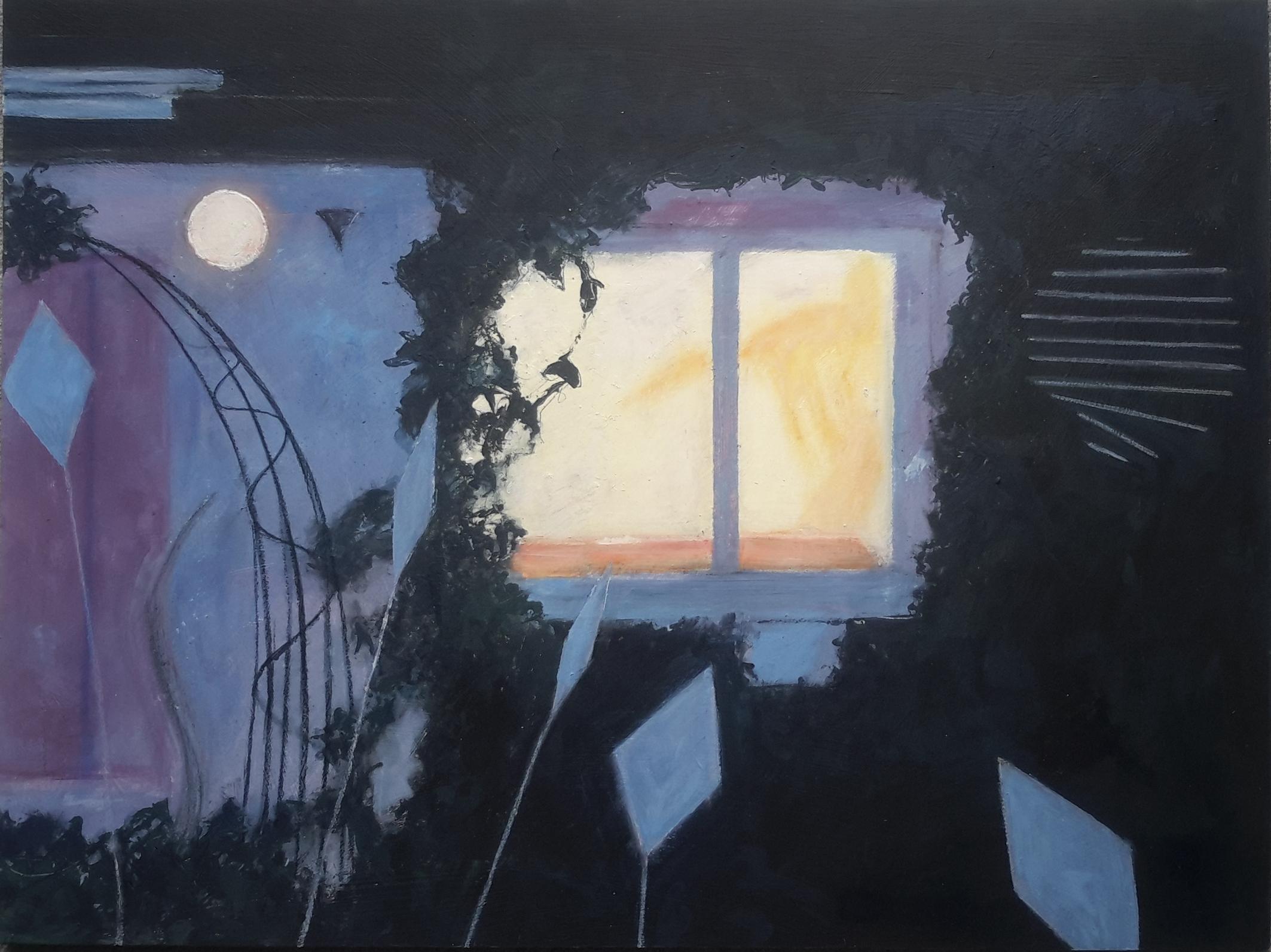 Jill Tattersall In the Night Garden 65x86, mixed media on board (1)