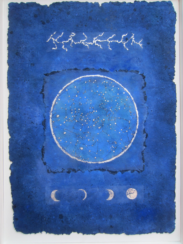 Jill Tattersall Summer Nights, Heatwave 94x68. handmade paper