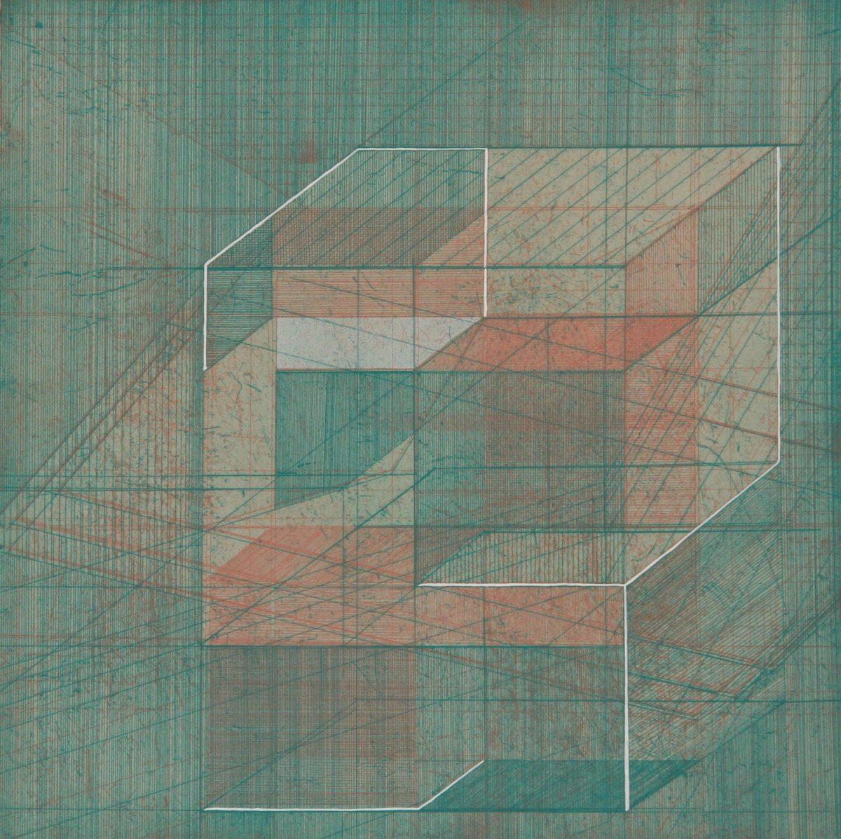 Bronwen Sleigh, Jinja Road Study I, 2017, Etching and screenprint (ed. 25), 32 cm x 32 cm