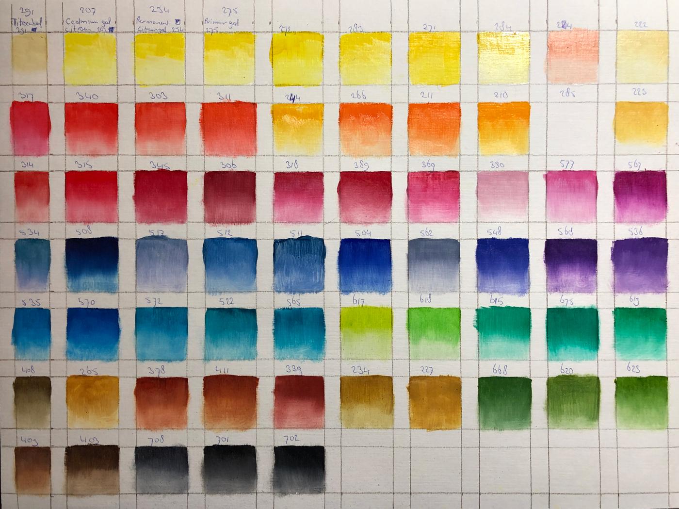 Magriet's-Colourchart