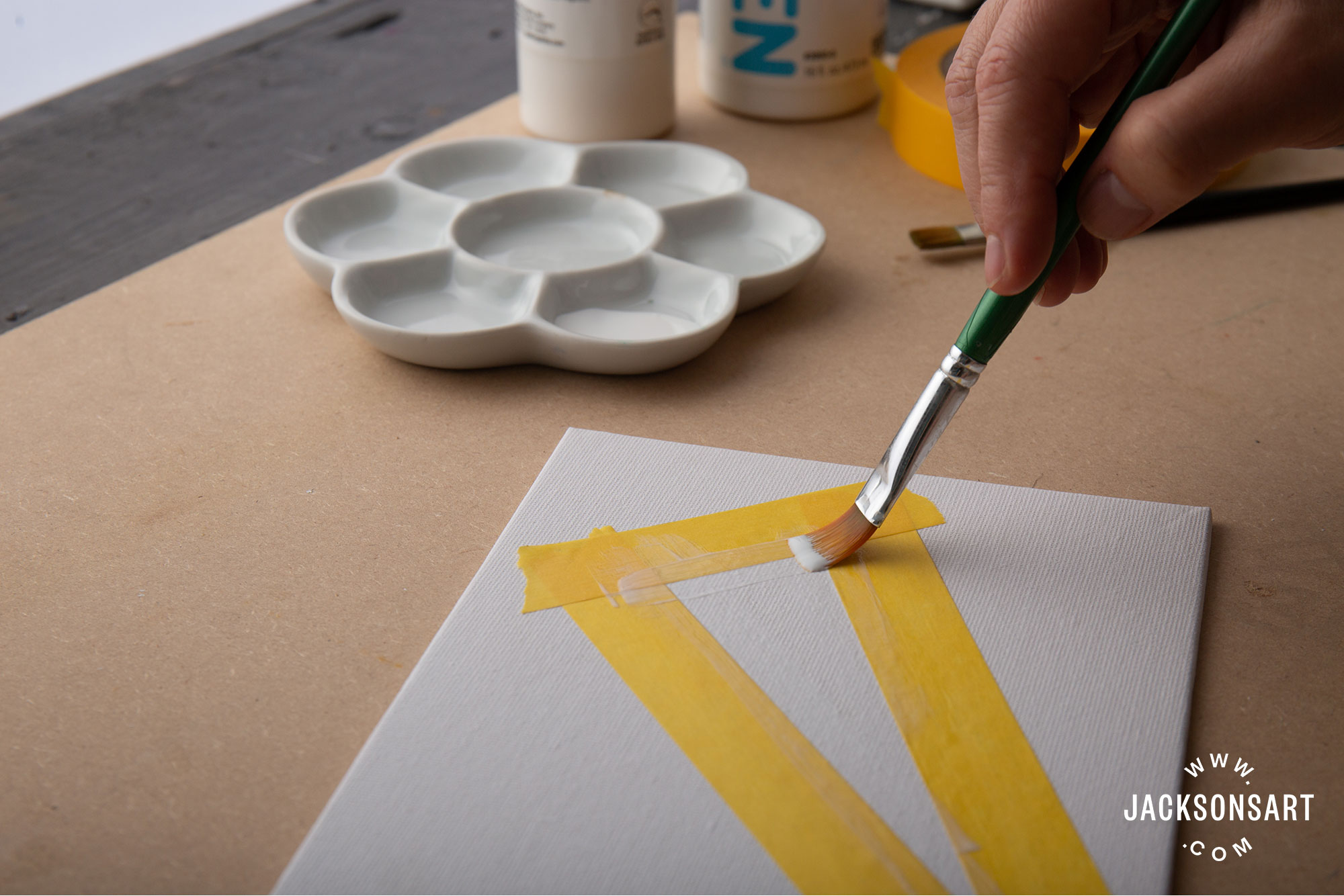 Sealing Your Masking Tape For Better Hard Edges In Acrylic Painting Jackson S Art Blog