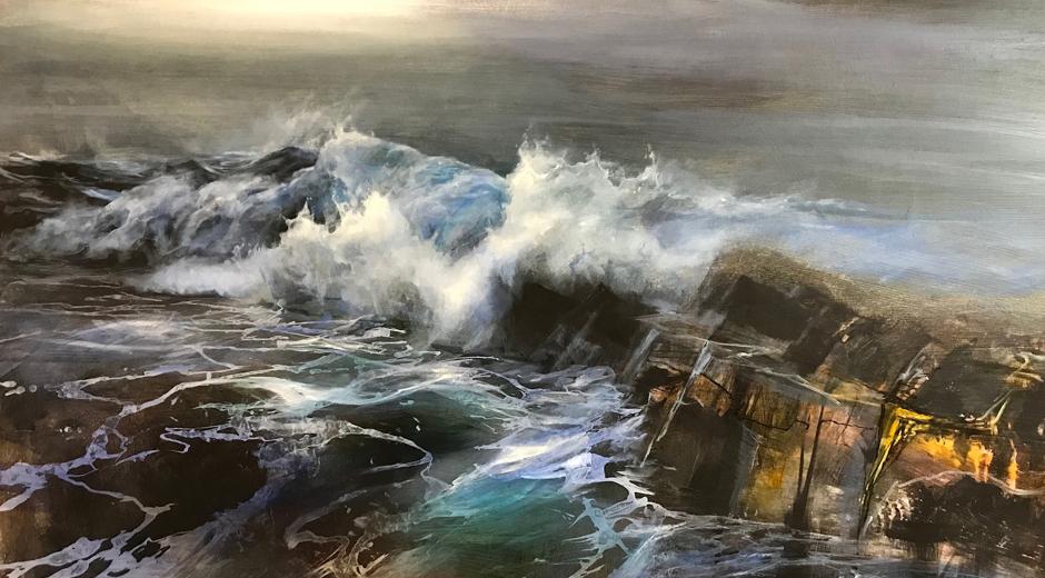Beth Robertson Fiddes, Reiff Wave, Mixed Media, 122 cm x 91 cm