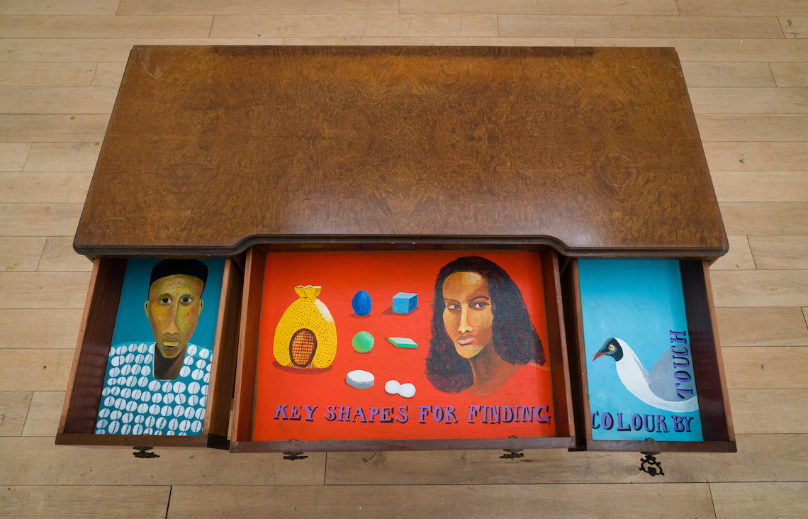 Installion view of work by Lubaina Himid MBE.