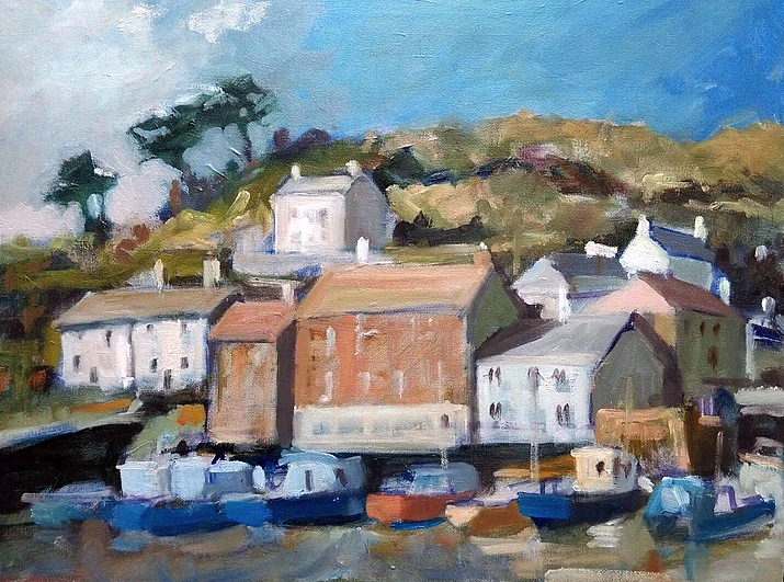 Max Hale, Polperro Harbour, this classic Cornish fishing harbour is a chocolate box picture of beauty and tranquility