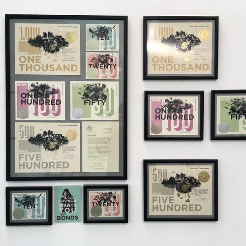 Framed Bank Job collection