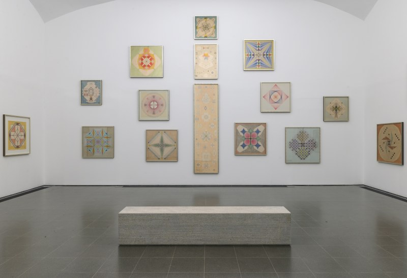 Installation view, Emma Kunz: Visionary Drawings, conceived with artist Christodoulos Panayiotou.
