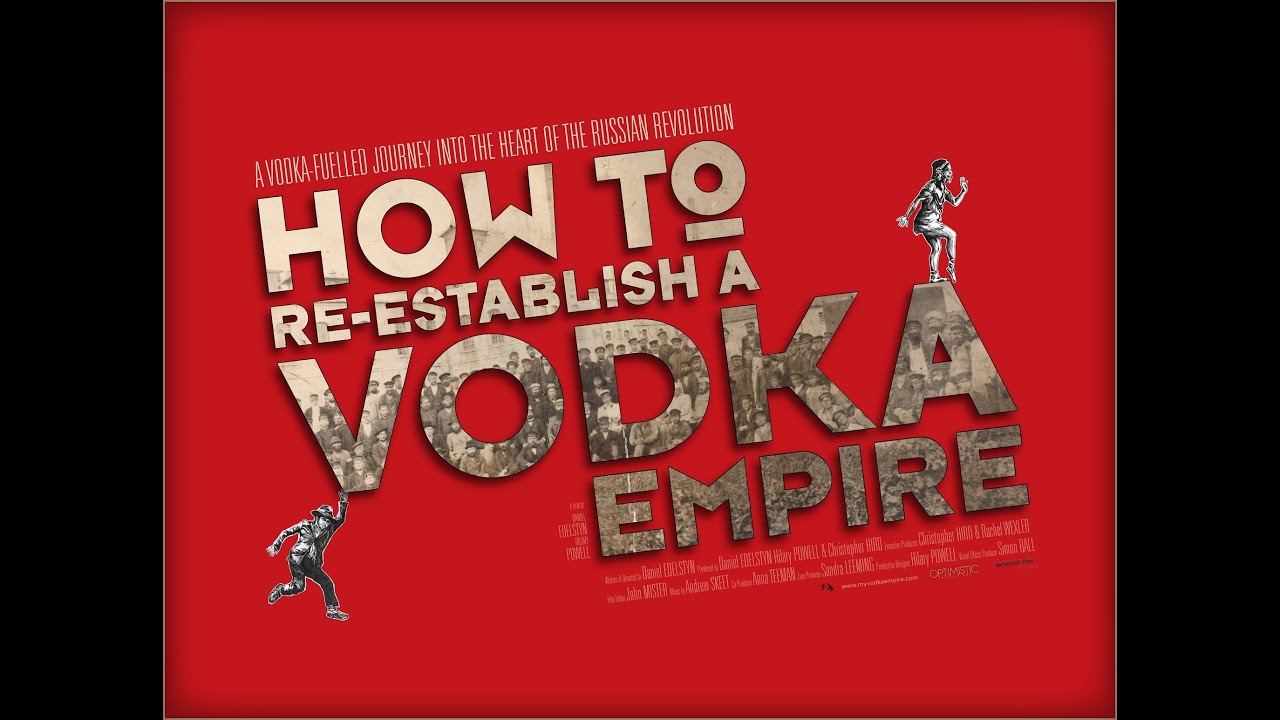 Promotional material for 'How To Re-Establish a Vodka Empire' Dan Edelstyn's feature length film - red art film poster