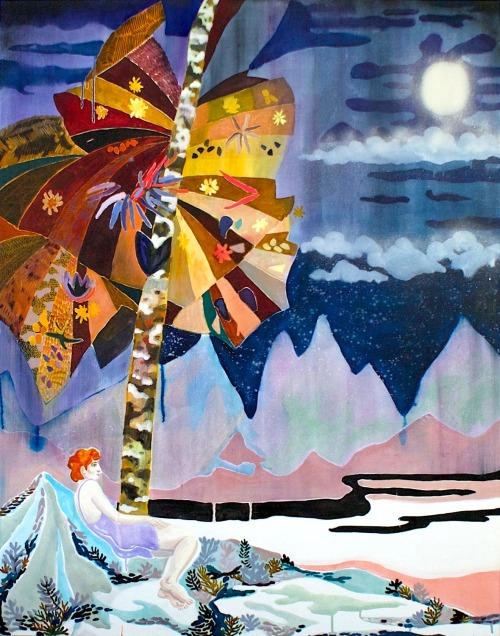 Freya Douglas-Morris, Tree of Childhood, Oil on canvas, 140 cm x 110 cm