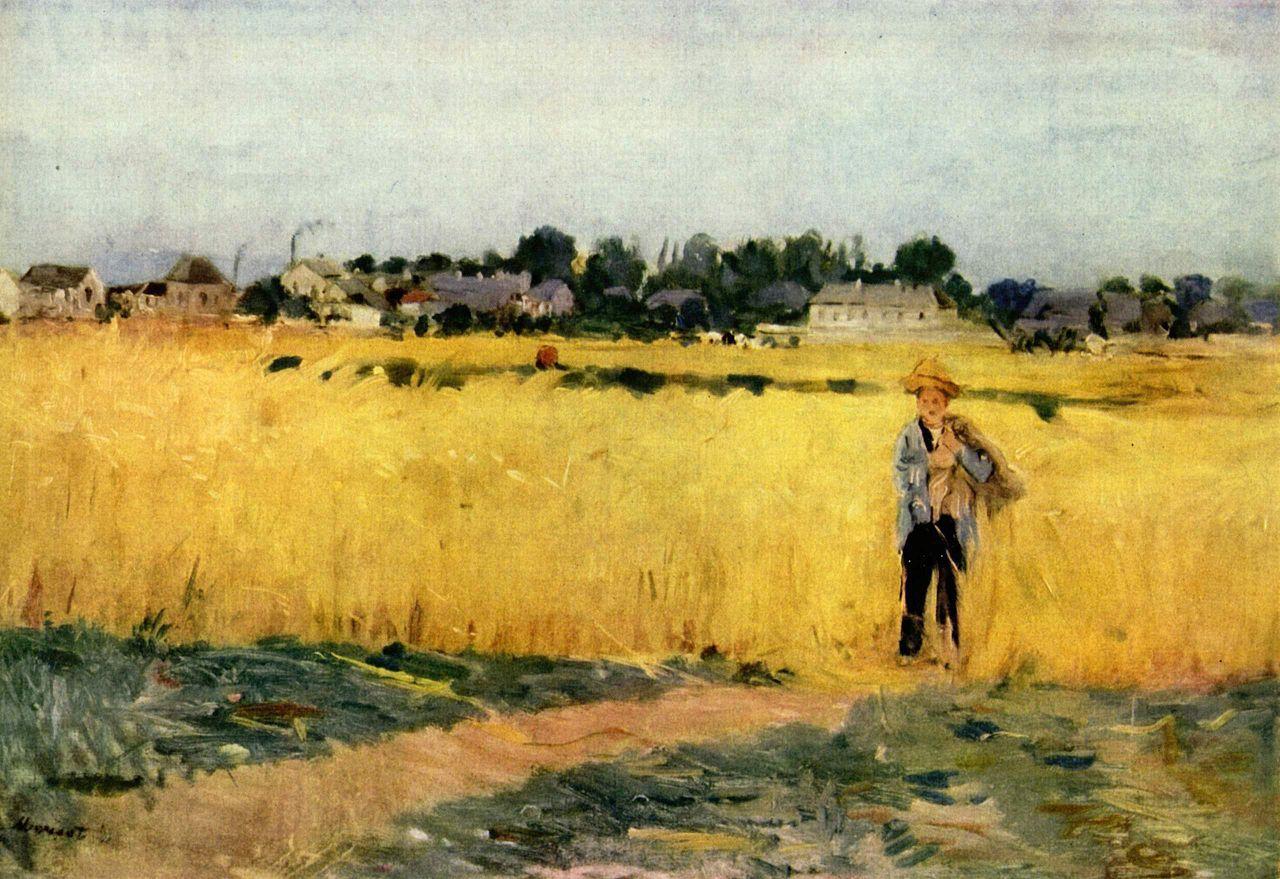 Berthe Morisot, Dans les blés, circa 1875, oil on canvas, 47 cm x 69 cm