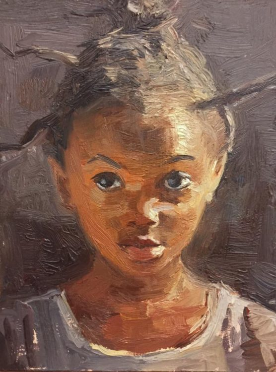 Deliberate Portrait Practice #13 - My Daughter, portrait painting