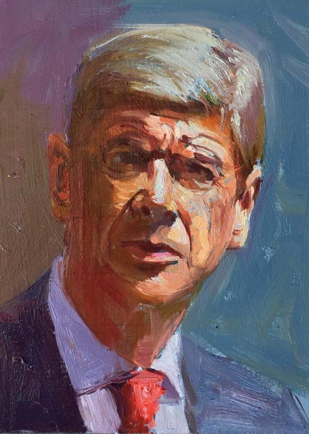 Deliberate Portrait Practice, #15 - Arsene Wenger, portrait painting