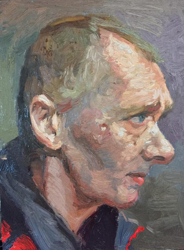 Deliberate Portrait Practice, #30 - Big Issue Seller Charing Cross, portrait painting
