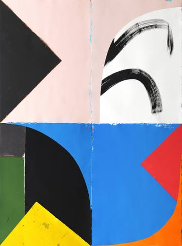 Jo Hummel, Yes, Paper, Paint, Ink on Paper, 60 in x 44 in