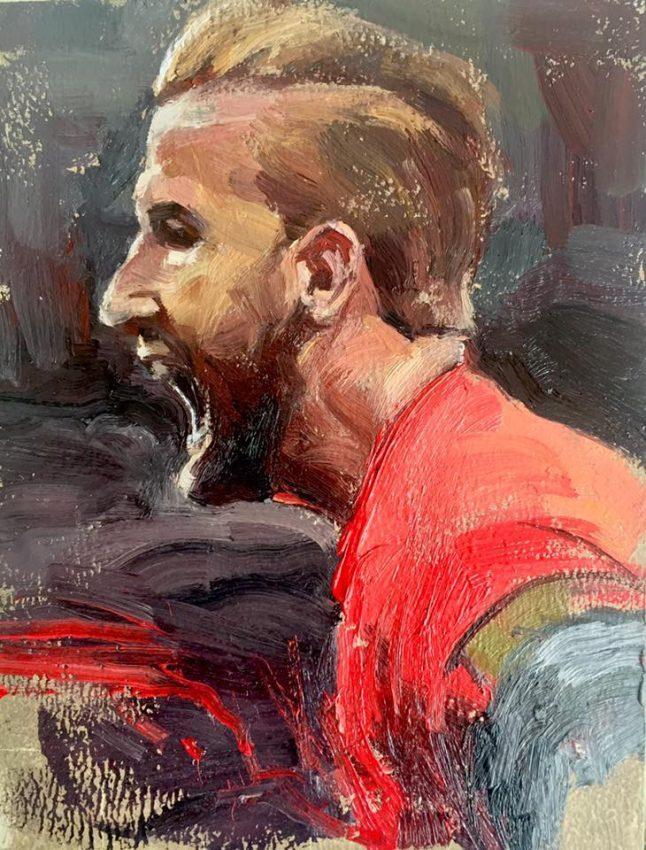 Deliberate Portrait Practice, #49 - Harry Kane, portrait painting