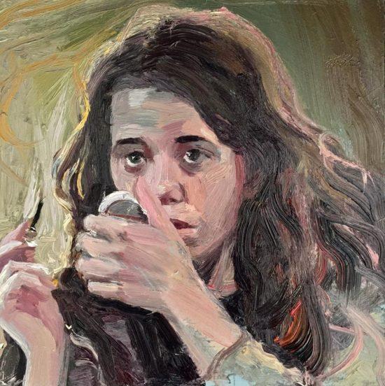 Deliberate Portrait Practice, #51 - Stranger making up, portrait painting