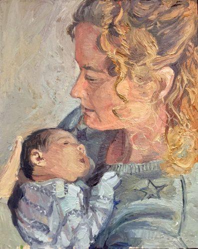 Deliberate Portrait Practice #56, 57 - The Connection, portrait painting