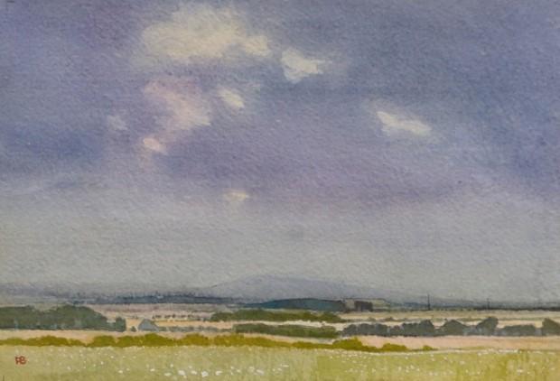 Paul Banning RI RSMA, Storm Approaching, Salisbury Plane, Watercolour, 37 x 45 cm