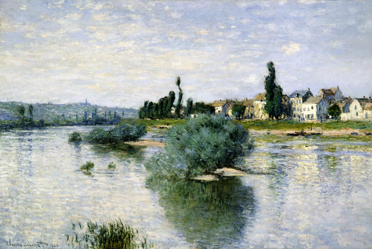 Claude Monet, The Seine at Lavacourt, 1880, oil on canvas, 98.4 cm x 149.2 cm