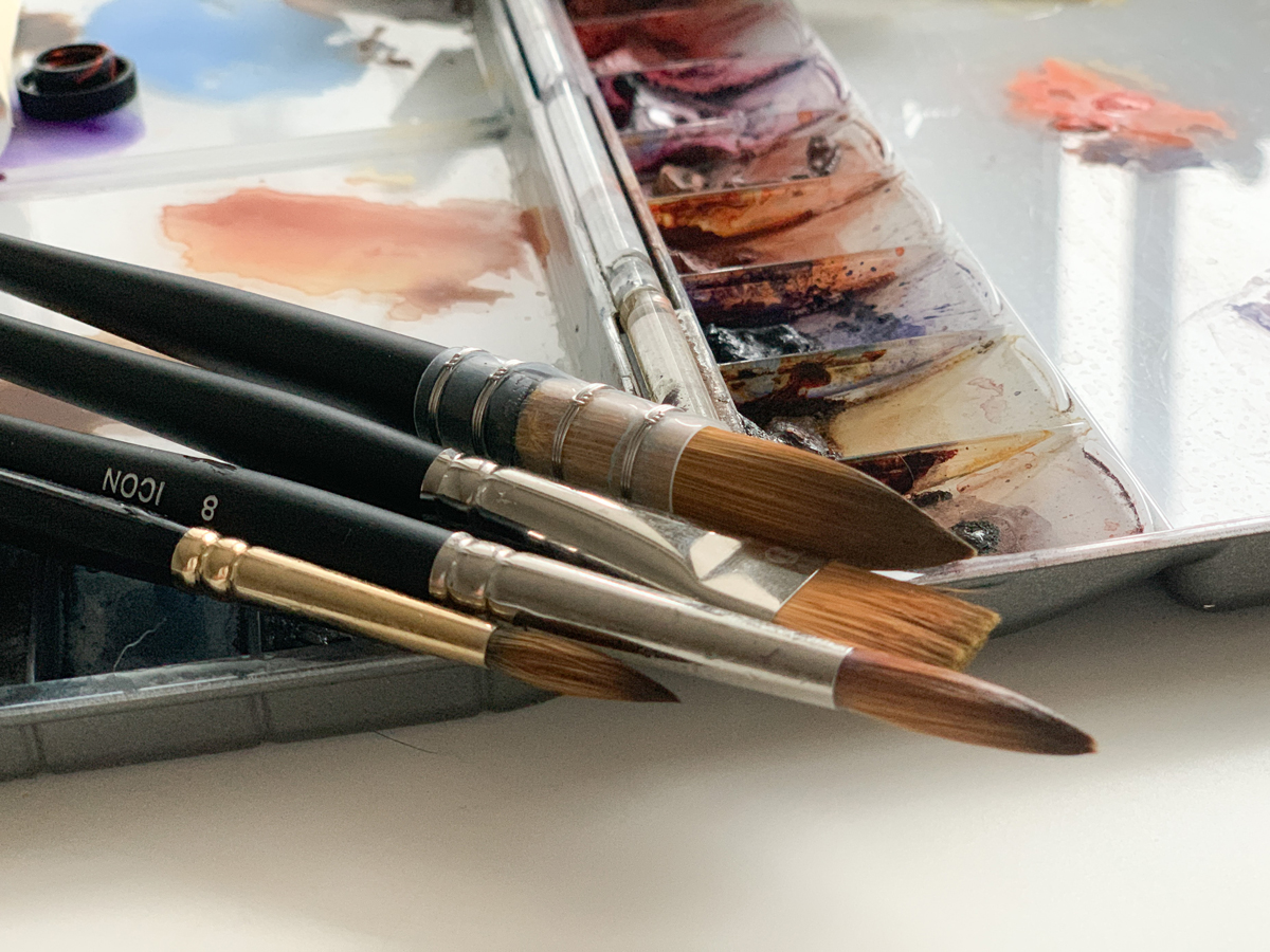 A selection of Jackson's Watercolour Brushes