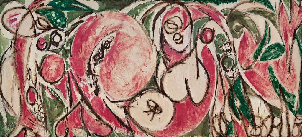 Lee Krasner, The Seasons, 1957, Oil and house paint on canvas, 235.6 cm x 517.8 cm