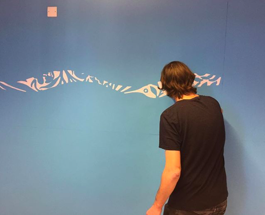 First layers applied to Maek Titchner's mural