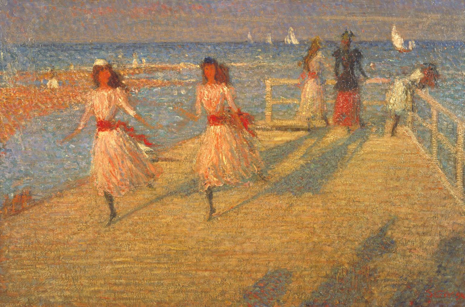 Philip Wilson Steer , Girls Running, Walberswick Pier, 1888-94, Presented by Lady Augustus Daniel 1951