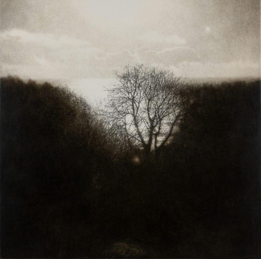 Sarah Gillespie, Last Walk to the Sea, 2019, Oil on gessoed wood panel, 76 cm x 76 cm
