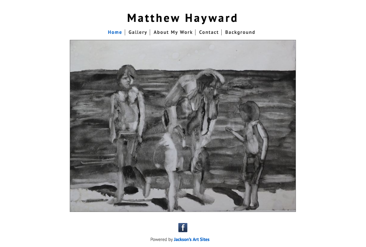Matthew Hayward's artist website made by Jackson's Art Sites