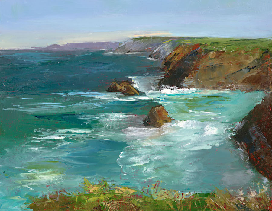 Sarah Eddy, Sea Watching, Oil on wood panel